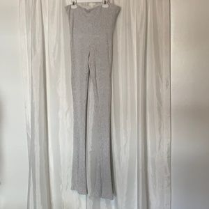 Free People Grey Knit Flared Leggings Size Medium